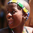 smiling faced dancer by eddiebotha