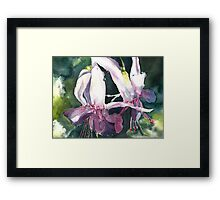 Ballet of the Fuschia Framed Print