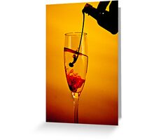 The hand that pours... Greeting Card