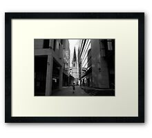 A DIFFERENT WAY Framed Print