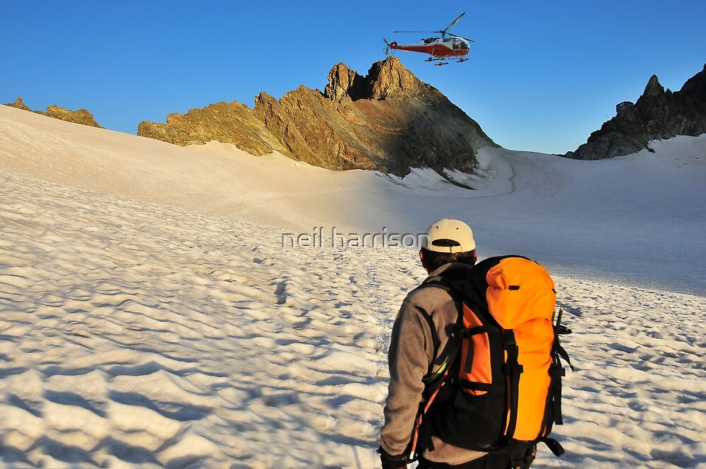 helicopter and mountain refuge by neil harrison