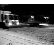NYC Snowplow at Night Photographic Print