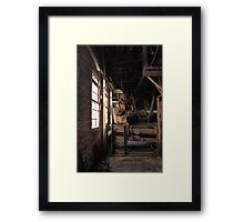 Old Textile Mill Machinery Framed Print
