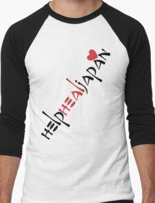 help heal japan Men's Baseball ¾ T-Shirt