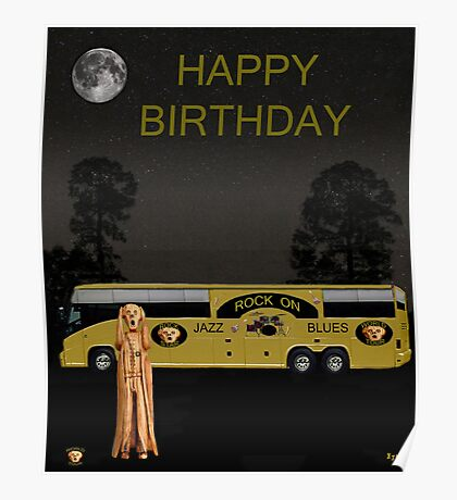 Scream Music Tour Happy Birthday Poster