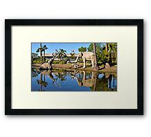Death in the Tar pits, reflected Framed Print