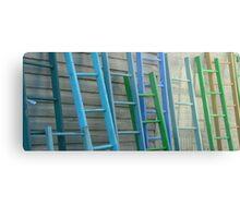Coloured Steps Metal Print