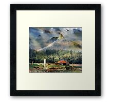 In the valley of the Saint. Framed Print