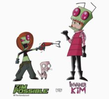 Zim Possible vs Invader Kim by The-Bundycoot