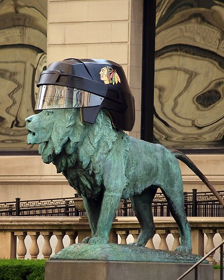 Art Institute Hawks Lion by Anthony Roma