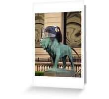 Art Institute Hawks Lion Greeting Card