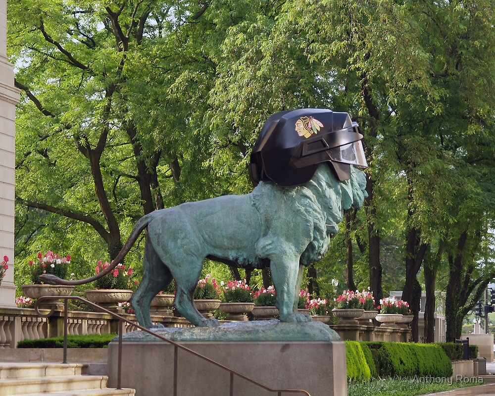 Art Institute Hawks Lion II by Anthony Roma