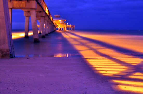 Fishing Pier by Kim McClain Gregal