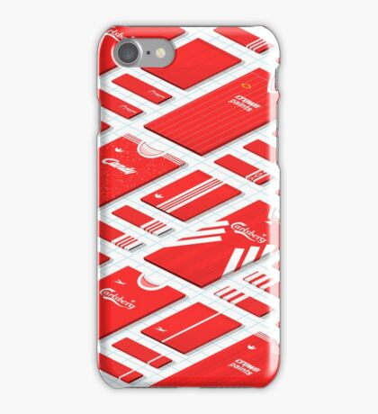 Liverpool Historical Kits Isometric Collage (Home) iPhone Case/Skin