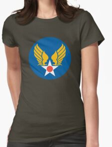 US Army Air Corps Hap Arnold Wings Womens Fitted T-Shirt