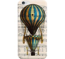 Balloon Vintage Music Notes Iphone Case iPhone Case/Skin