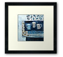 cups in conversation Framed Print