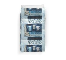 cups in conversation Duvet Cover