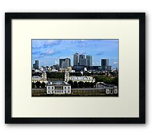 Canary Wharf From Greenwich Framed Print