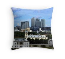 Canary Wharf From Greenwich Throw Pillow