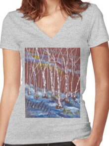 Let it Snow Women's Fitted V-Neck T-Shirt