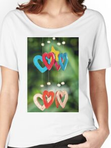 wooden hearts Women's Relaxed Fit T-Shirt