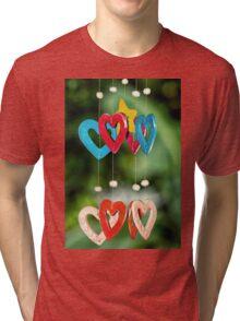 wooden hearts Tri-blend T-Shirt