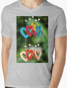 wooden hearts Mens V-Neck T-Shirt