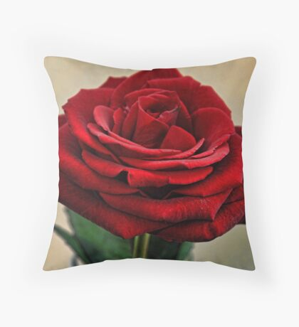My Love is like a Red Red Rose Throw Pillow