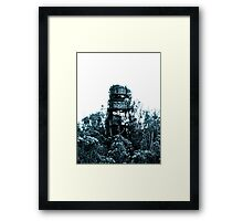Industrial Tower in a Sea of Trees Framed Print