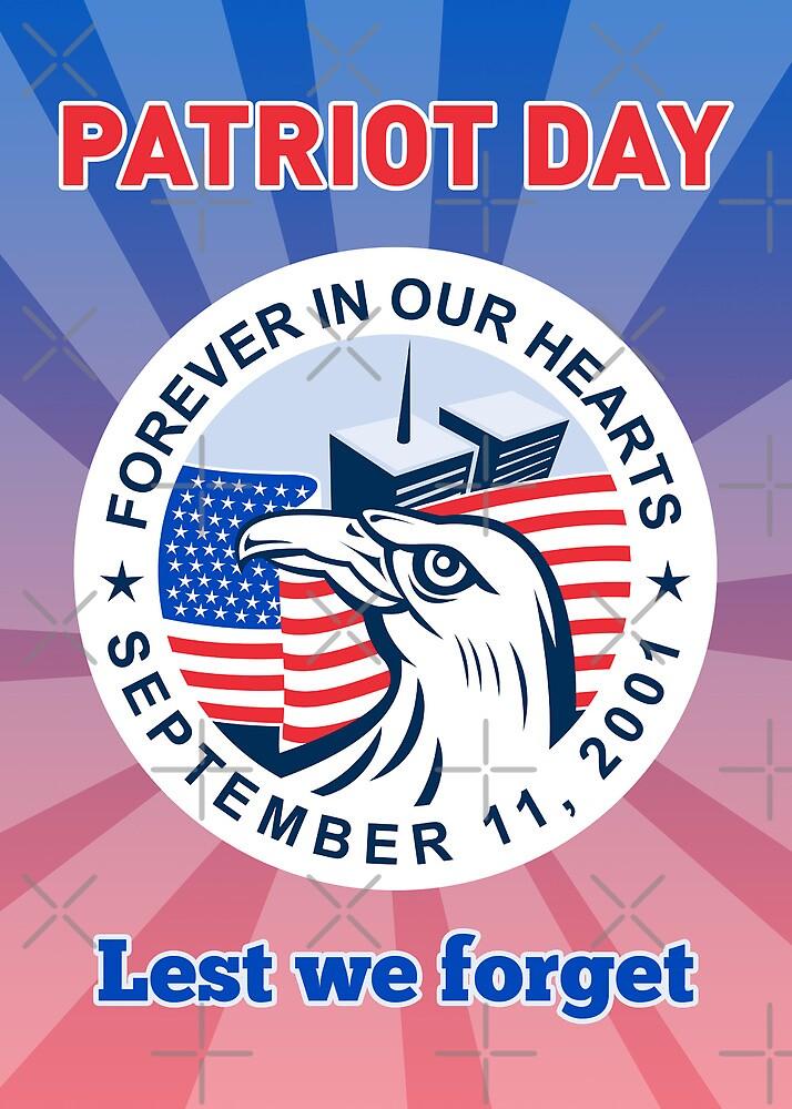 9-11 Patriots Day American Eagle Flag WTC  by patrimonio