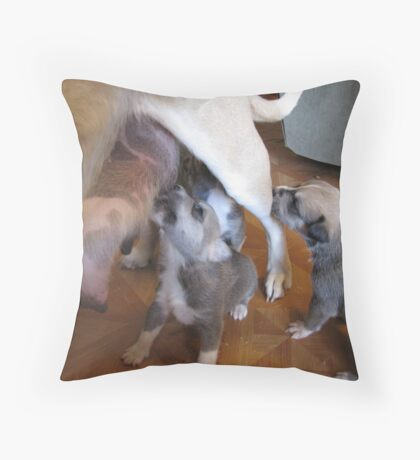 they keep coming Throw Pillow