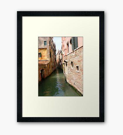 Back alley Framed Print