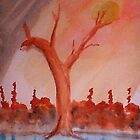 Even trees are pleading for help   watercolor by Anna  Lewis