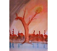 Even trees are pleading for help   watercolor Photographic Print