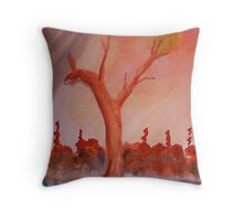 Even trees are pleading for help   watercolor Throw Pillow