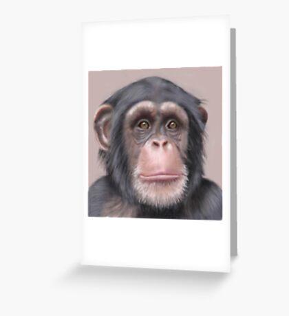 A. Chimp Greeting Card