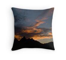 Grand Tetons after Sunset Throw Pillow