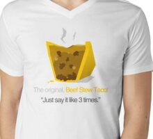 BEEF STEW TACO Mens V-Neck T-Shirt