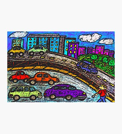 Outer City Traffic Photographic Print