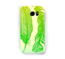 Lime Feathers Samsung Galaxy Case/Skin