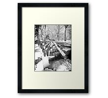 Central Park Bench Framed Print