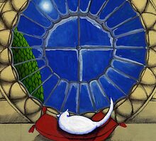 Alabaster by the Round Window 2 by Donna Huntriss