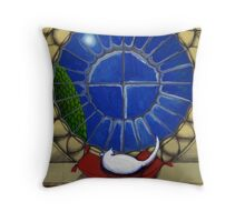 Alabaster by the Round Window 2 Throw Pillow