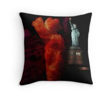 Cheeto Statue of Liberty Throw Pillow