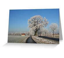 Snow Greeting Card