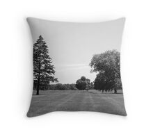 Trees in the Meadow Throw Pillow