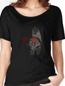 Fallout New Vegas Power Armor Helmet rev B Women's Relaxed Fit T-Shirt