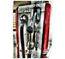 Old Gas Pump Handle Decatur, Texas Poster