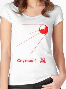 Sputnik-1 Satellite 1957 (light) Women's Fitted Scoop T-Shirt